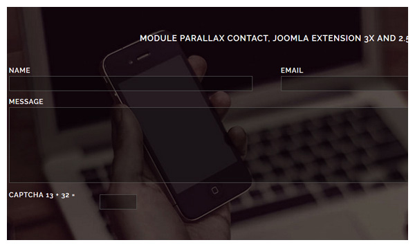 parallax contact joomla extension