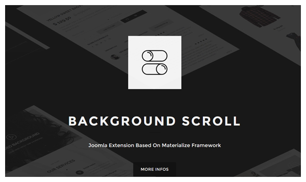 background scroll joomla extension