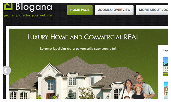 blogana joomla template