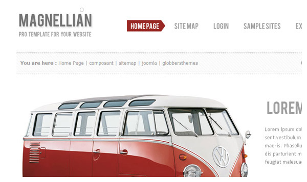 magnellian joomla template