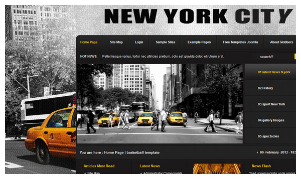 nyc joomla template