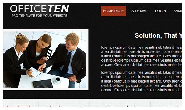 officeten joomla template