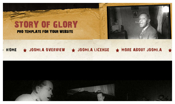 story of glory joomla template
