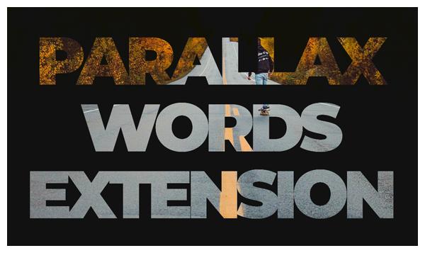 parallax words joomla extension